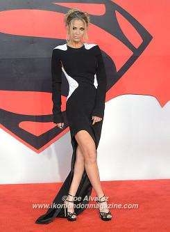 Sarah Harding attends the premiere of Batman v. Superman: Dawn Of Justice at Odeon, Leicester Square. © Joe Alvarez