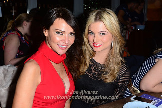 Zara Holland, Lizzie Cundy Gods of Greek Dining at The Real Greek © Joe Alvarez