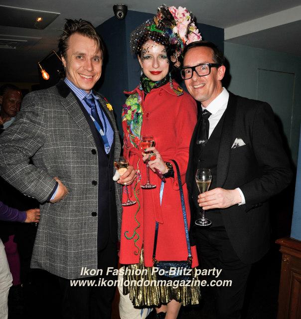 Guest, Anna Kompaniets, Darren Charman Ikon Fashion PoBlitz Party