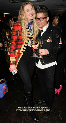 Tamara Orlova-Alvarez and Joe Alvarez Ikon Fashion Party PoBlitz