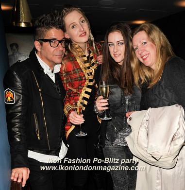 Joe Alvarez, Tamara Orlova Alvarez, Alida Pantone, Teresa Cole Ikon Fashion PoBlitz Party