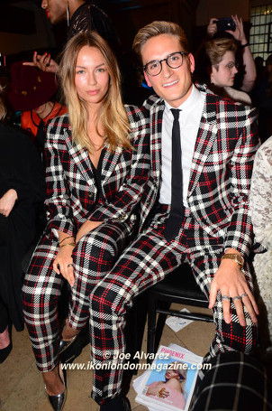 Emma Louise Connolly, Oliver Proudlock at Joshua Kane SS17 show © Joe Alvarezoshua Kane SS17 show © Joe Alvarez