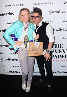 Tamara Orlova-Alvarez, Joe Alvarez At the Stradivarius party during London Fashion Week © Joe Alvarez