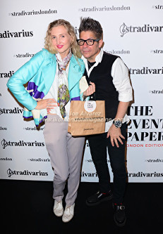 Tamara Orlova-Alvarez, Joe Alvarez At the Stradivarius party during London Fashion Week © Joe Alvarez
