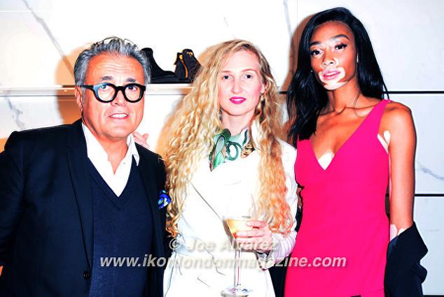 Giuseppe Zanotti, Tamara Orlova-Alvarez, Winnie Harlow Giuseppe Zanotti Store Launch © Joe Alvarez