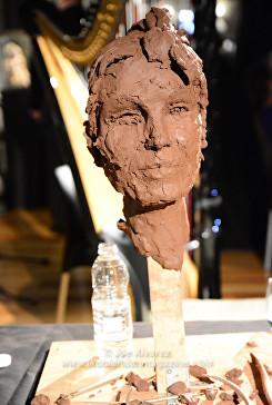 Bust of Joanna Lumley by Royal Sculptor Frances Segelman Heads at The Tower exhibition © Joe Alvarez © Joe Alvarez