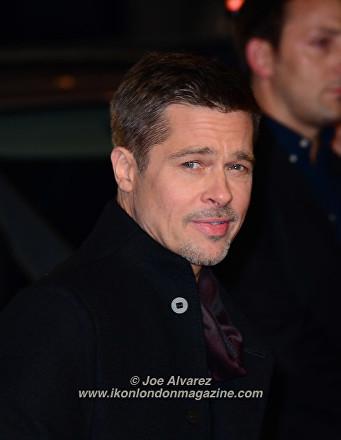 Brad Pitt at the London Premiere of The Allied © Joe Alvarez