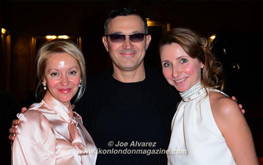 Yulia Polivoda, Egor Beroev, Anna Nasobina Scott Fitzgerald tribute play at Club Eclectique © Joe Alvarez