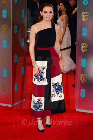 Daisy Ridley at Royal BAFTA 2017 © Joe Alvarez