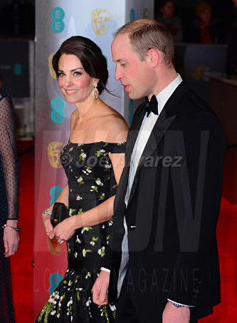 Duke and Duchess of Cambridge at Royal BAFTA 2017 © Joe Alvarez