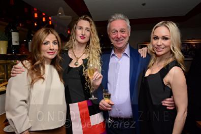 Teo Lloyd, Tamara Orlova-Alvarez, David Lloyd, Kristina Rihanoff Bar Boulud © Joe Alvarez