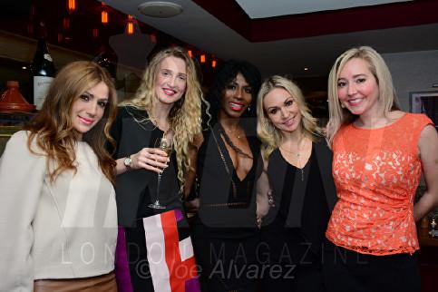 Teo Lloyd, Tamara Orlova-Alvarez, Sinitta, Kristina Rihanoff, Beth Jones Bar Boulud © Joe Alvarez