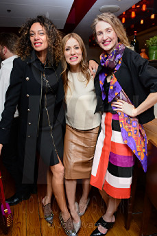 Lilly Becker, Teo Lloyd, Tamara Orlova-Alvarez Bar Boulud © Joe Alvarez