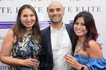 Dr Shirin Lakhani, Jay Shah, Guest Elite Aesthetics Clinic Launch © Joe Alvarez