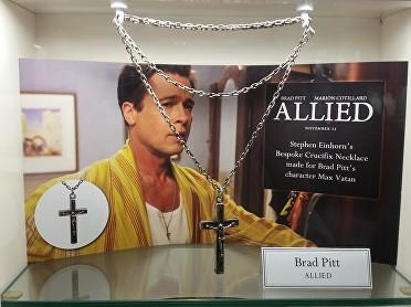 Stephen Einhorn Jewellery maker Brad Pitt Cross from The Allied Film © Ikon London Magazine