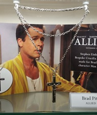 Stephen Einhorn Jewellery maker Brad Pitt Cross from The Allied Film © Ikon London Magazine