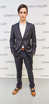 Malcolm Modele at Olga Lomaka Gallery opening