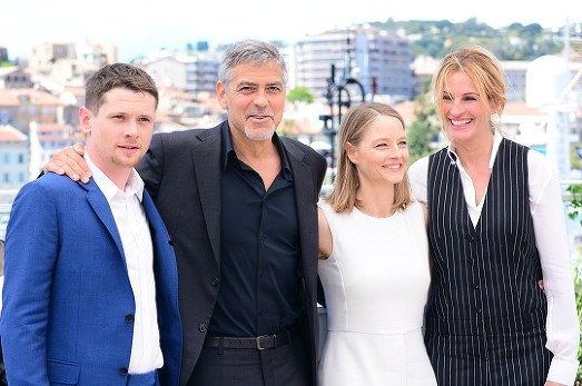 George Clooney, Jodie Foster, Julia Roberts at the photocall of The Money Monster at the Cannes Film Festival © Joe Alvarez