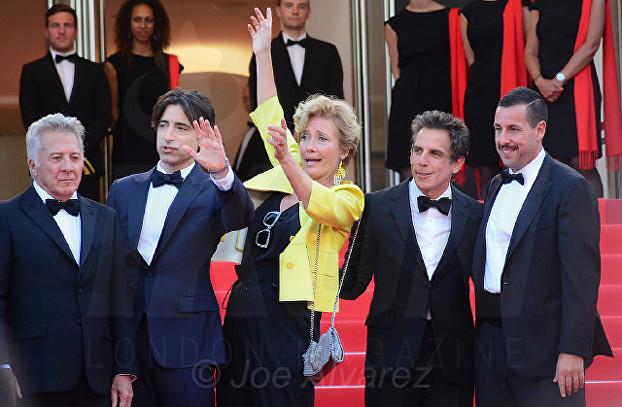 Noah Baumbach, Ben Stiller, Adam Sandler, Dustin Hoffman, Emma Thompson The Meyerowitz Stories fil premiere Cannes Film Festival © Joe Alvarez