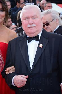 Lech Walesa The Meyerowitz film premiere Cannes Film Festival © Joe Alvarez