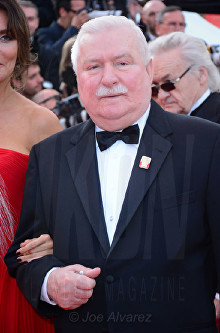 Lech Walesa The Meyerowitz film premiere Cannes Film Festival © Joe Alvarez
