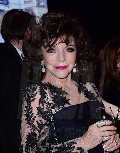 """Dame Joan Collins at the Jackie Collins """"A Life In Chapters"""" private view at Bonhams © Joe Alvarez"""