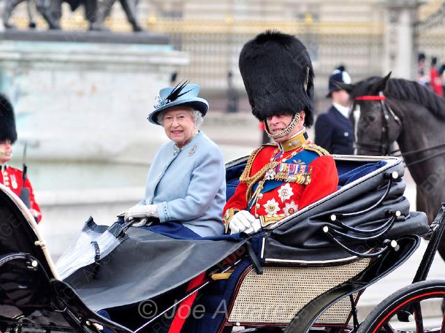 Queen Elizabeth Prince Phili at Trooping The Colour © Joe Alvarez