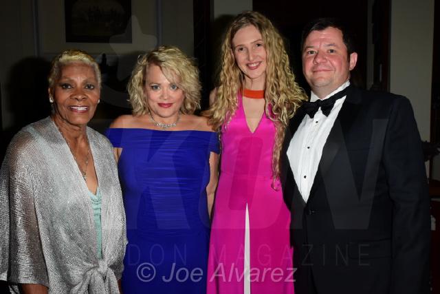 Dionne Warwick, Kay Jupp, Tamara Orlova-Alvarez, Steven Jupp Dot Com Charity Gala © Joe Alvarez