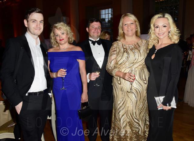 Cal Leeming, Kay Jupp, Steven Jupp, Sharon Evans and kristina Rihanoff Dot Com Charity Gala © Joe Alvarez