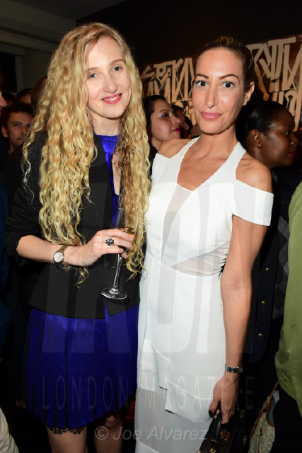 Tamara Orlova-Alvarez and Laura Pradelska at the RETNA Maddox Gallery Private View © Joe Alvarez