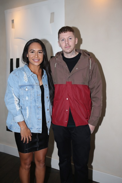 Heather Watson and Professor Green Cantina Laredo Launch Party