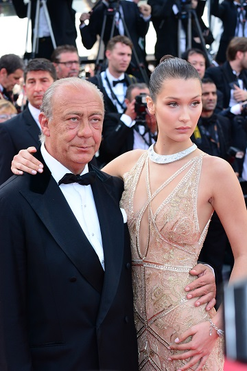 Bella Hadid, Fawaz Gruosi at Cannes Film Festival Opening