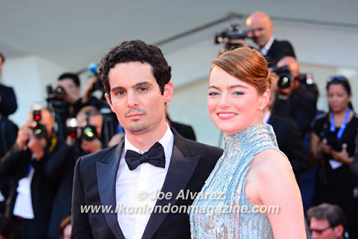 Damien Chazelle, Emma Stone La La Land premiere at the Venice Film Festival © Joe Alvarez