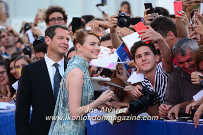 Emma Stone La La Land premiere at the Venice Film Festival © Joe Alvarez