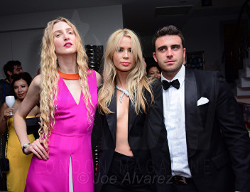 Tamara Orlova-Alvarez, Olivia Arben, Nico Cary at the Snowbound Film Party in Cannes © Joe Alvarez