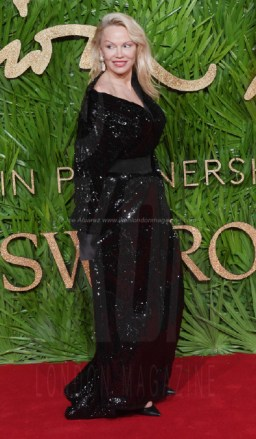 Pamela Anderson attends the Fashion Theatre Awards at Royal Albert Hall, London.