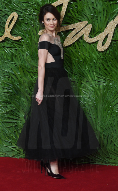 Olga Kurylenko attends the Fashion Theatre Awards at Royal Albert Hall, London.