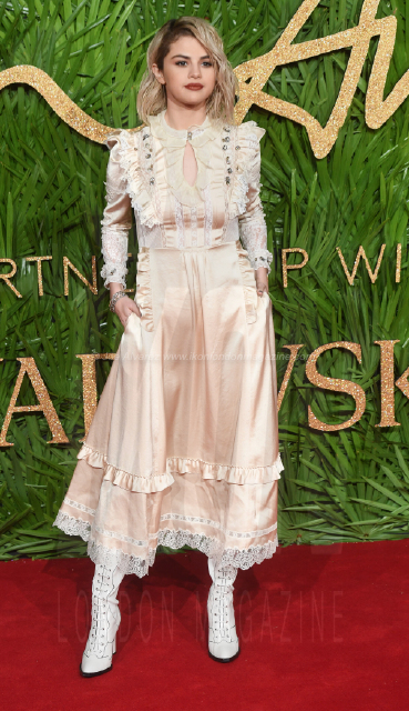 Selena Gomez attends the Fashion Theatre Awards at Royal Albert Hall, London.