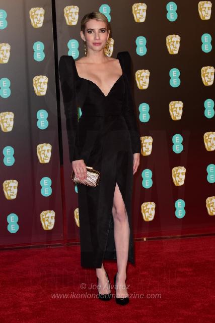 Emma Roberts The BAFTAS arrivals © Joe Alvarez 13937