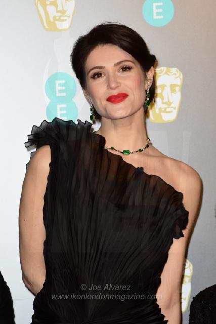 Gemma Arterton The BAFTAS arrivals © Joe Alvarez 14004