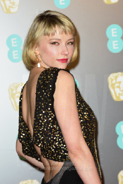 Haley Bennett The BAFTAS arrivals © Joe Alvarez 14071