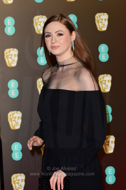 Karen Gillan EE BAFTAs 2018 arrivals © Joe Alvarez
