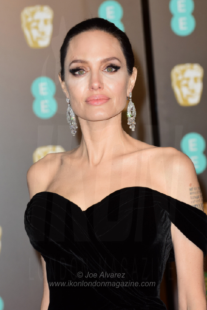 Angelina Jolie EE BAFTAs 2018 arrivals © Joe Alvarez