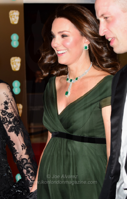 Catherine Duchess of Cambridge and Prince William EE BAFTAS 2018 © Joe Alvarez