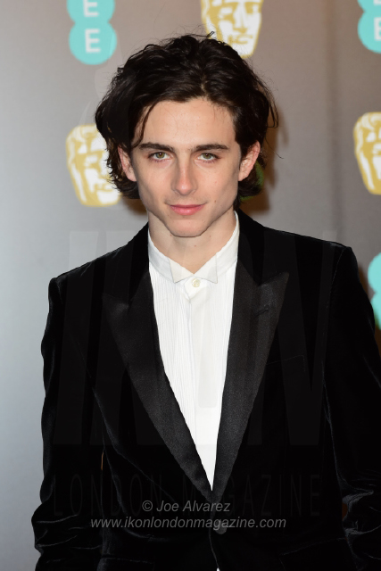 Timothee Chalamet The BAFTAS arrivals © Joe Alvarez 13948