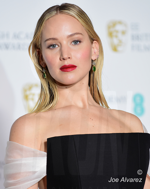 Jennifer Lawrence BAFTAS 2018 © JOE ALVAREZ