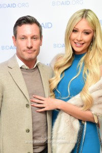 Dean Gaffney, Rebekah Ward attend Bid Aid fundraising resource © Joe Alvarez