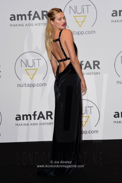 Toni Garrn NUIT pre-amfAR party Cannes © Joe Alvarez