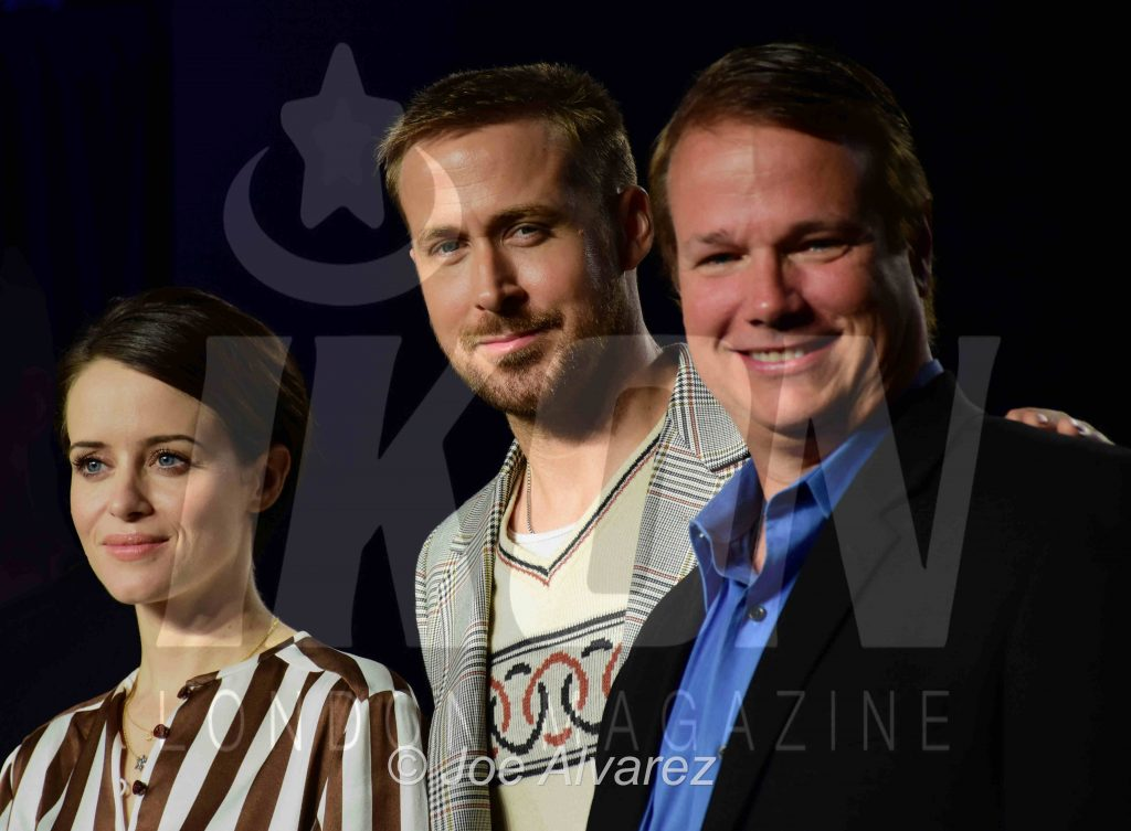Claire Foy, Ryan Gosling, Rick Armstrong First Man press conference Toronto Film Festival TIFF © JOE ALVAREZ