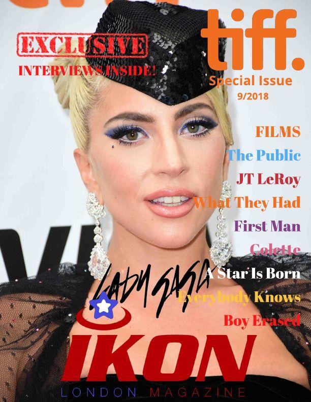 Lady Gaga front cover of Ikon London Magazine Digital TIFF Special Issue © Joe Alvarez